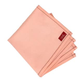 pink cotton handkerchief