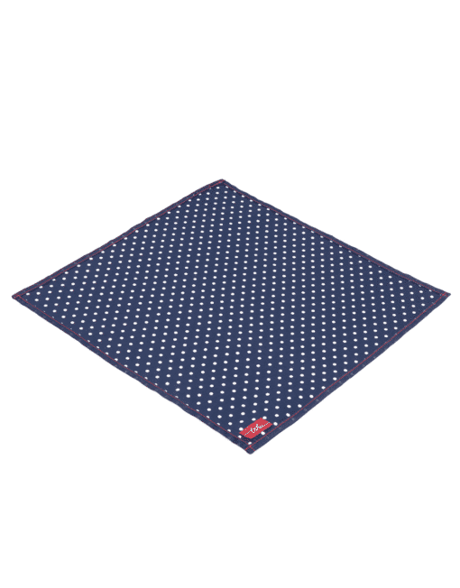 Gilbert - navy blue white spotted handkerchief