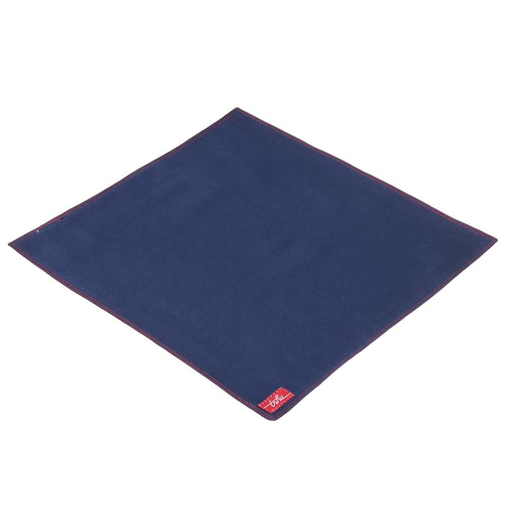 Louise, mouchoir bleu doublé