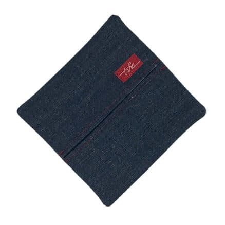 Denim handkerchief case