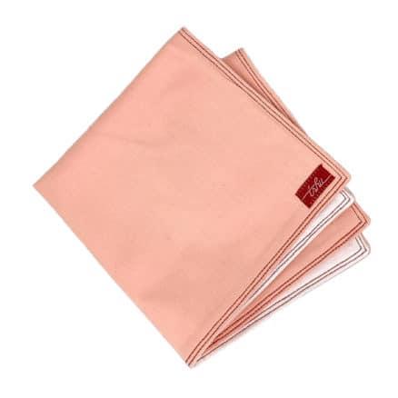 mouchoir rose et blanc épais