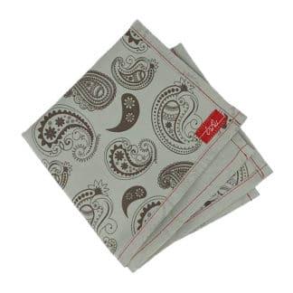 grey paisley handkerchief