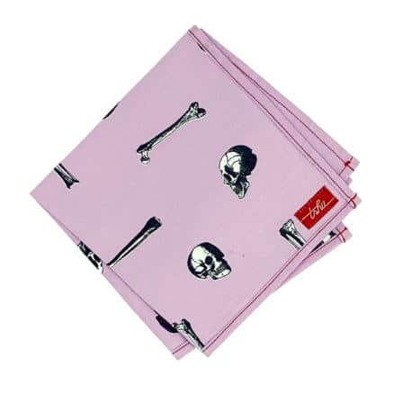 lavender handkerchief with skulls