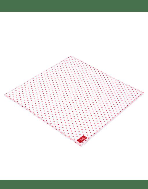 Henri - mouchoir en coton bio blanc à pois rouge