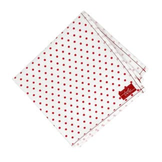 red polka dot handkerchief