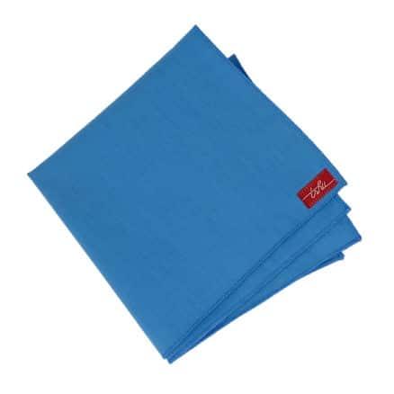 mouchoir en tissu bleu
