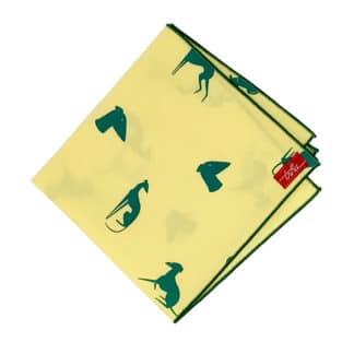 mouchoir coton jaune