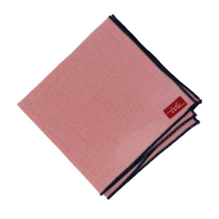salmon pink handkerchief