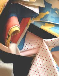 Assortment of samples and orphan handkerchiefs