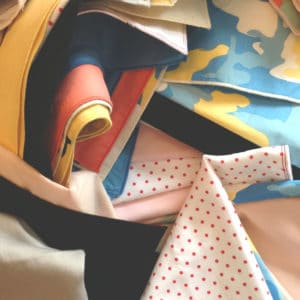 Assortment of samples and orphan handkerchiefs