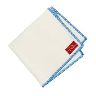 natural and blue organic cotton handkerchiefs