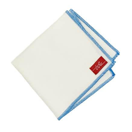 natural and blue organic cotton handkerchiefs