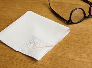 white handkerchief