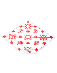 Red snowflake handkerchief