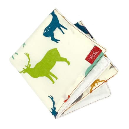 organic washcloth with deers