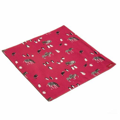 TSHU Jack, mouchoir rose et noir en retailles de tissu zéro déchet
