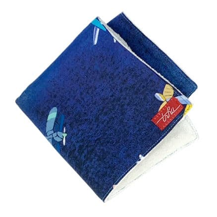 blue washcloth with airplanes