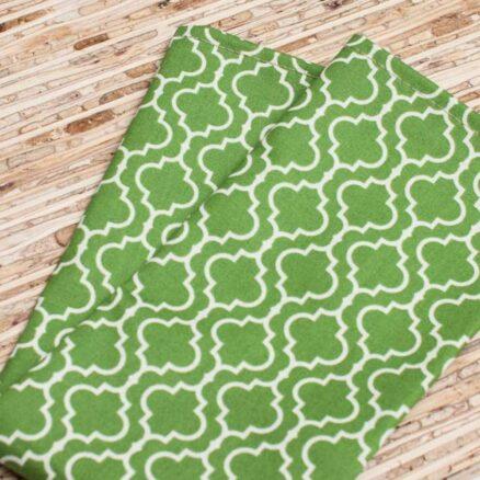 serviette de table verte