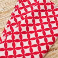 serviette de table coton rouge