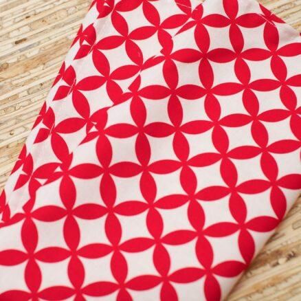 serviette de table coton rouge