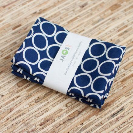serviette de table tissu bleue