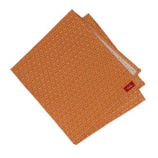 orange cloth napkin