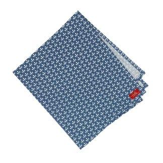 serviette en coton bleue