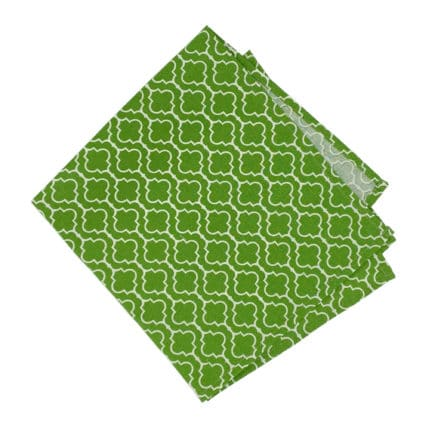 green cloth napkin