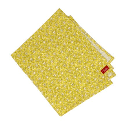 yellow cloth napkin
