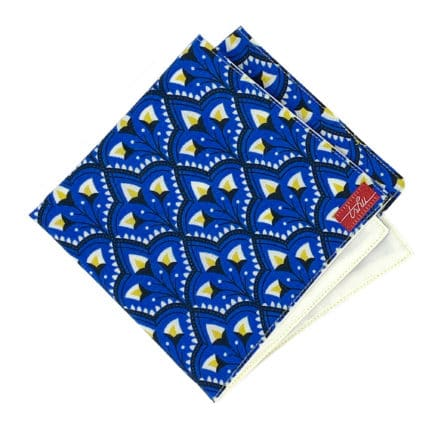 yellow and blue handkerchief