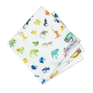 cute handkerchief with gecko print