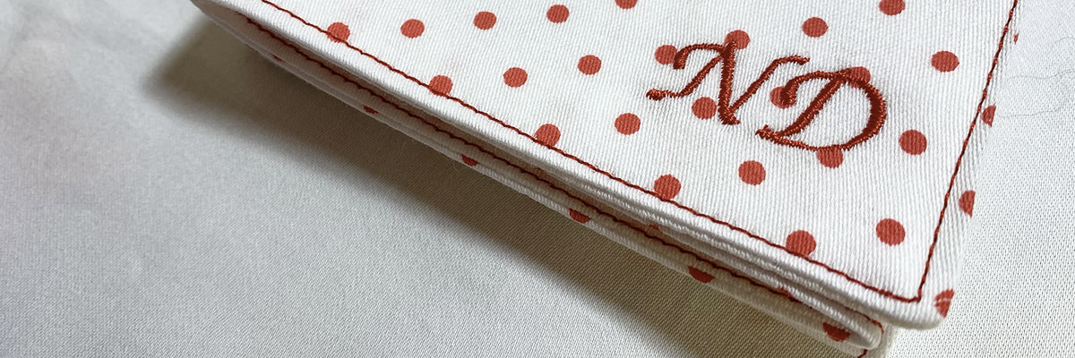 handkerchief with initials