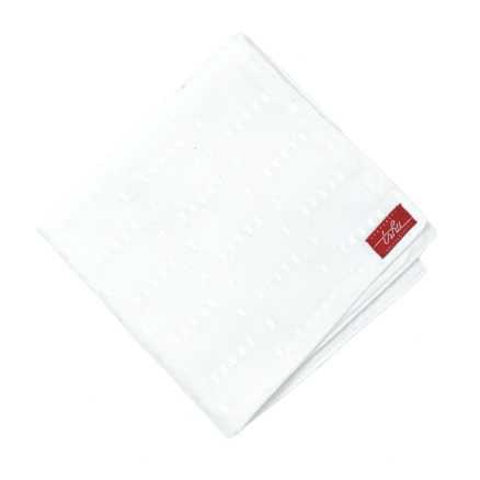 white handkerchief with english embroidery