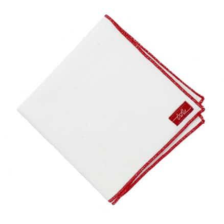 white flannel handkerchief